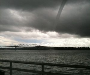 auckland waterspout