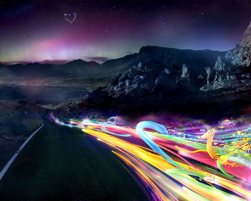 Road-and-rainbow-lights_large