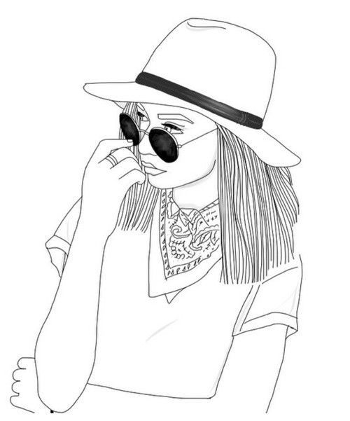 Image result for sketch of sunglasses and hat