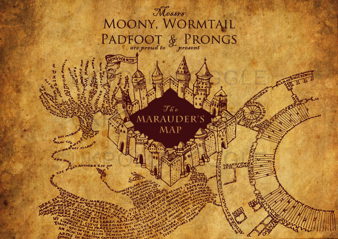 My marauders map live wallpaper harrypotter 1280 905
