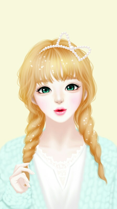 Art  Art Girl  Background  Beautiful Girl  Beauty  Cartoon  Cute Art  Drawing  Enakei  Face