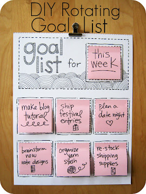 Cornflower Blue: DIY Rotating Goal List