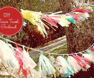 diy garland tissue