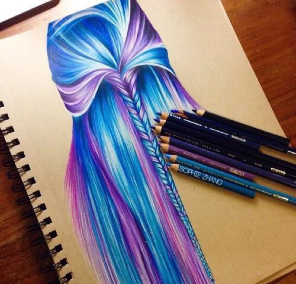 Phenomenal Color Hair Drawing Uploaded By Ssrnia K On We Heart It Largest Home Design Picture Inspirations Pitcheantrous