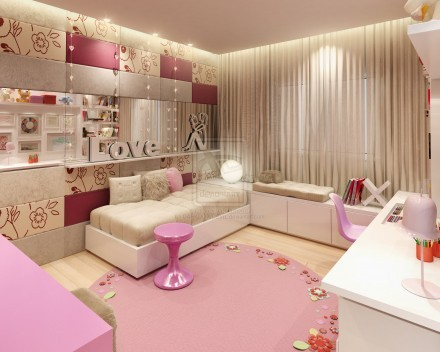 Teenage Room Design on Pink Teen Room Design With Wall Decors   Interior Exterior Plan On We