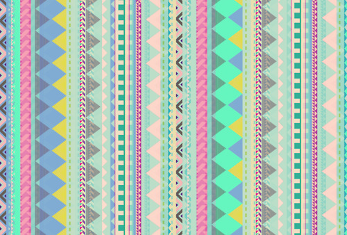 VASARE NAR ILLUSTRATION PORTFOLIO - Pastel Aztec pattern by Vasare...