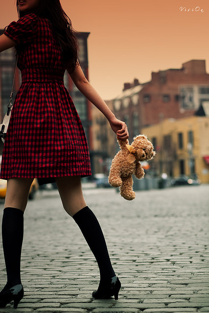 Bear-dress-girl-sunset-teddy-bear-walk-favim.com-70762_large_large