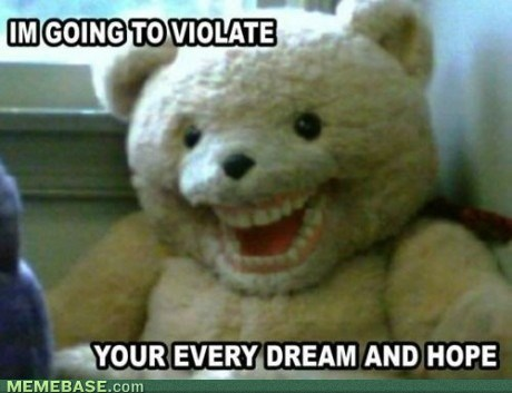 internet memes i dont want a teddybear anymore1 large Memebase: Rage Comics, Forever Alone, Y U No Guy, Troll Face, Foul Bachelor Frog   Page 4
