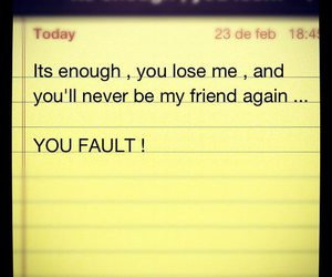 your fault