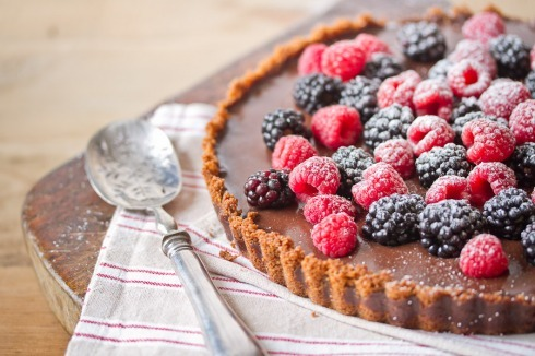 Chocolate tart with fresh berries « The Food Fox