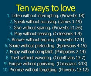 ten ways to love