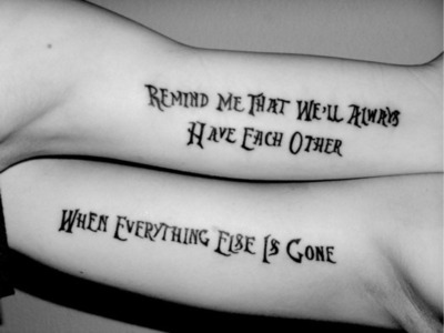 35 Of The Best Friendship Tattoos On We Heart It / Visual Bookmark