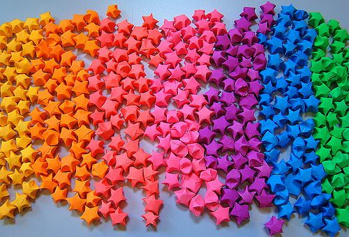 Xdelicious diy lucky paper stars for Diy lucky stars