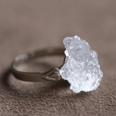 i love handmade ice crystal resin ring by pennydog. Black Bedroom Furniture Sets. Home Design Ideas