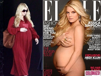 Jessica Simpson News - Pregnant Jessica Simpson Nude For ELLE Cover, ...