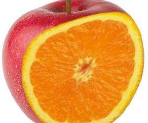 manzana naranja