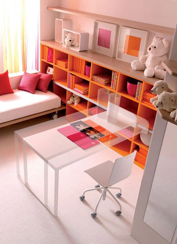Cheerful Kids Bedroom Ideas With Small Library Block