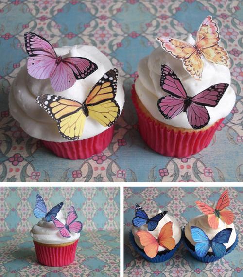 Mariposas comestibles en material de decoraci n para - Decoracion con mariposas ...