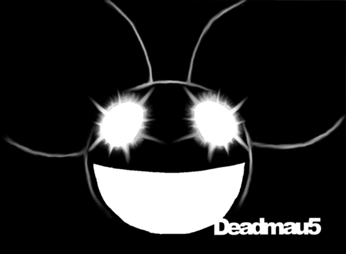 Deadmau5_on_black_n___white_by_cityinthehead-d2t81fc_large