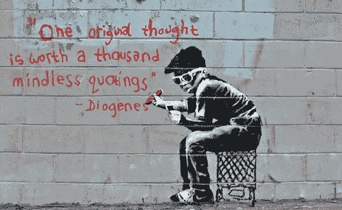 Piccsy :: One Original Thought - Banksy