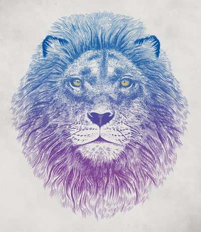 489927 2101126 b large Face of a Lion Art Print by Rachel Caldwell | Society6