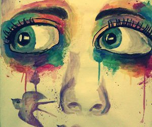 art eyes pretty painting