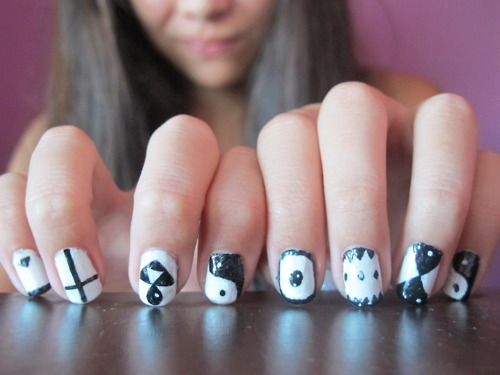 White Nails Designs Tumblr images