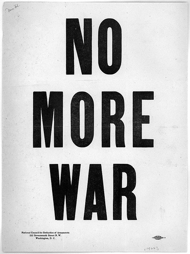 antiwar, art, black and white, font, graphic, him - inspiring picture on Favim.com