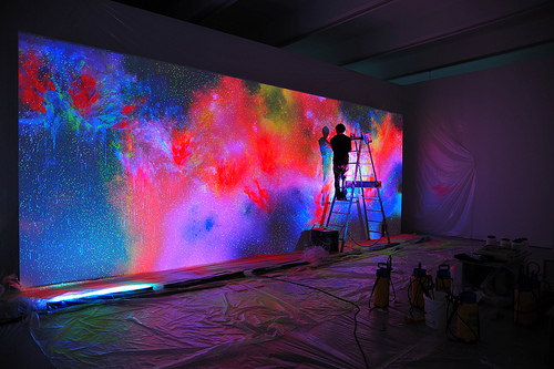 Neon lights by paulene whi for Neon paint walls