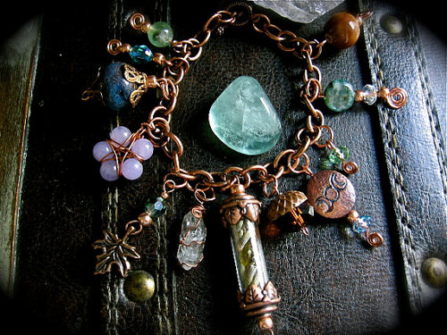 In the Goddesses GardenCharm Bracelet by EireCrescent on Etsy