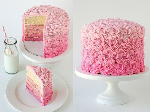 Pink Ombre Cake {Sweet Sunday} | Oh Darling Bride - A South African Wedding Blog
