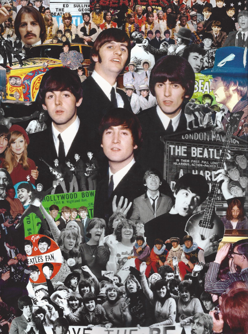 Image result for beatles in concert collage