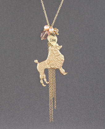 zGE9940pink large Proud Poodle Charm Necklace   $20.00 : Fashion Necklaces at LuLus.com