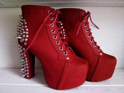 booties, fashion, heels, jeffrey campbell, litas - inspiring picture on Favim.com