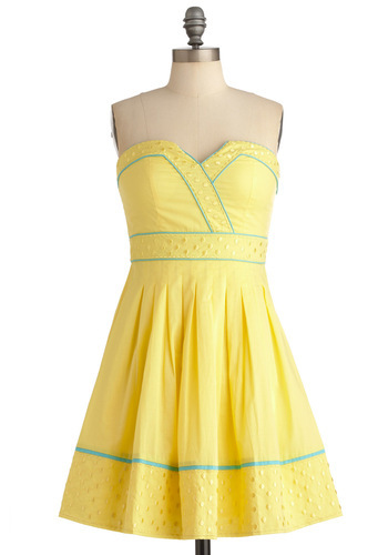 Banana Bubble Tea Dress | Mod Retro Vintage Dresses | ModCloth.com