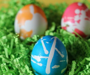 easter eggs colourful