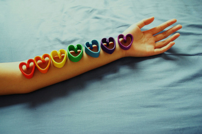 Cute,Hand,Hearts,Rainbow - inspiring picture on PicShip.com