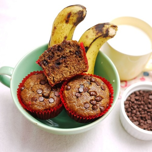 chocolate espresso muffins6 large Banana Espresso Chocolate Chip Muffins « Crustabakes