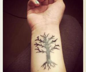 tree tattoo wrist