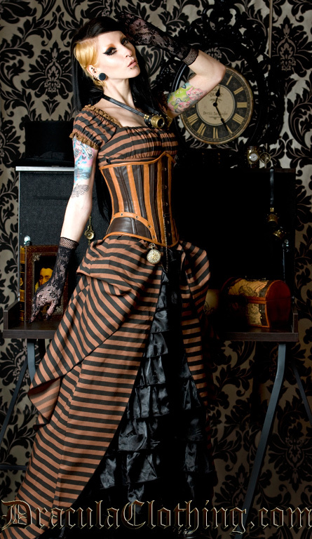 Steampunk dress we heart it for Where can i get my wedding dress steamed