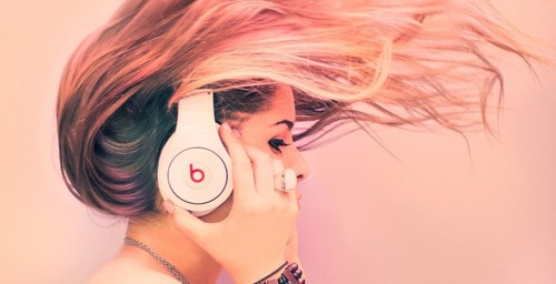Headphones Girl Photography Wallpaper