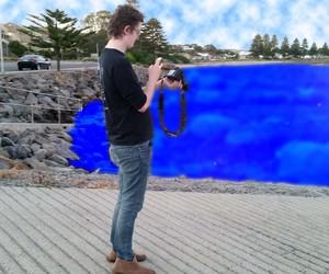 man waterscape