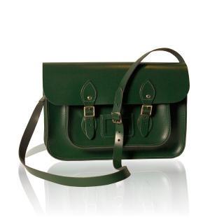 14-inch British Vintage Style Satchel hand-crafted from British ...