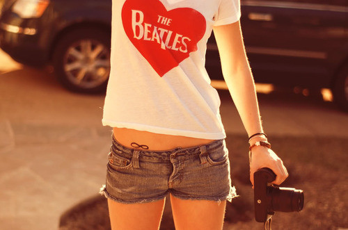 camera, fashion, photography, t-shirt, the beatles - inspiring picture on Favim.com