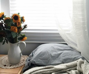 home bed flowers yellow