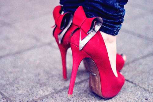Red Bow Back Dress Shoes - Love It So Much