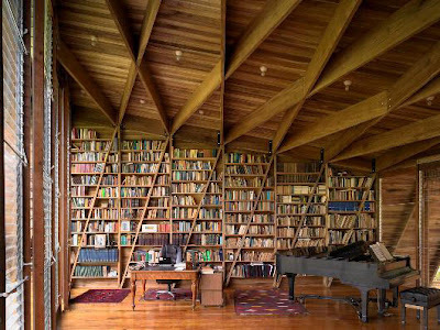 Home library design ideas: Large home library room
