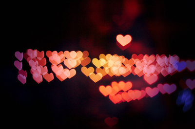 Bokeh,Cute,Hearts,Lights - inspiring picture on PicShip.com