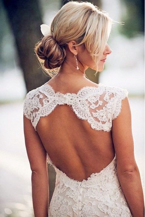 Wedding Dresses Lace Backless : Deshawnta s cap sleeve mermaid backless lace