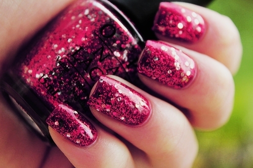 Nails,Pink,Nail polish,Girl,Style,Glitter - inspiring picture on PicShip.com